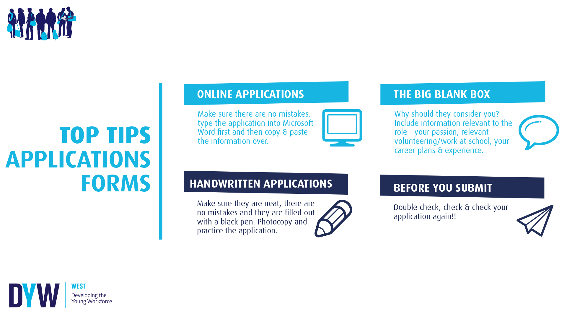 Top Tips: Application Forms