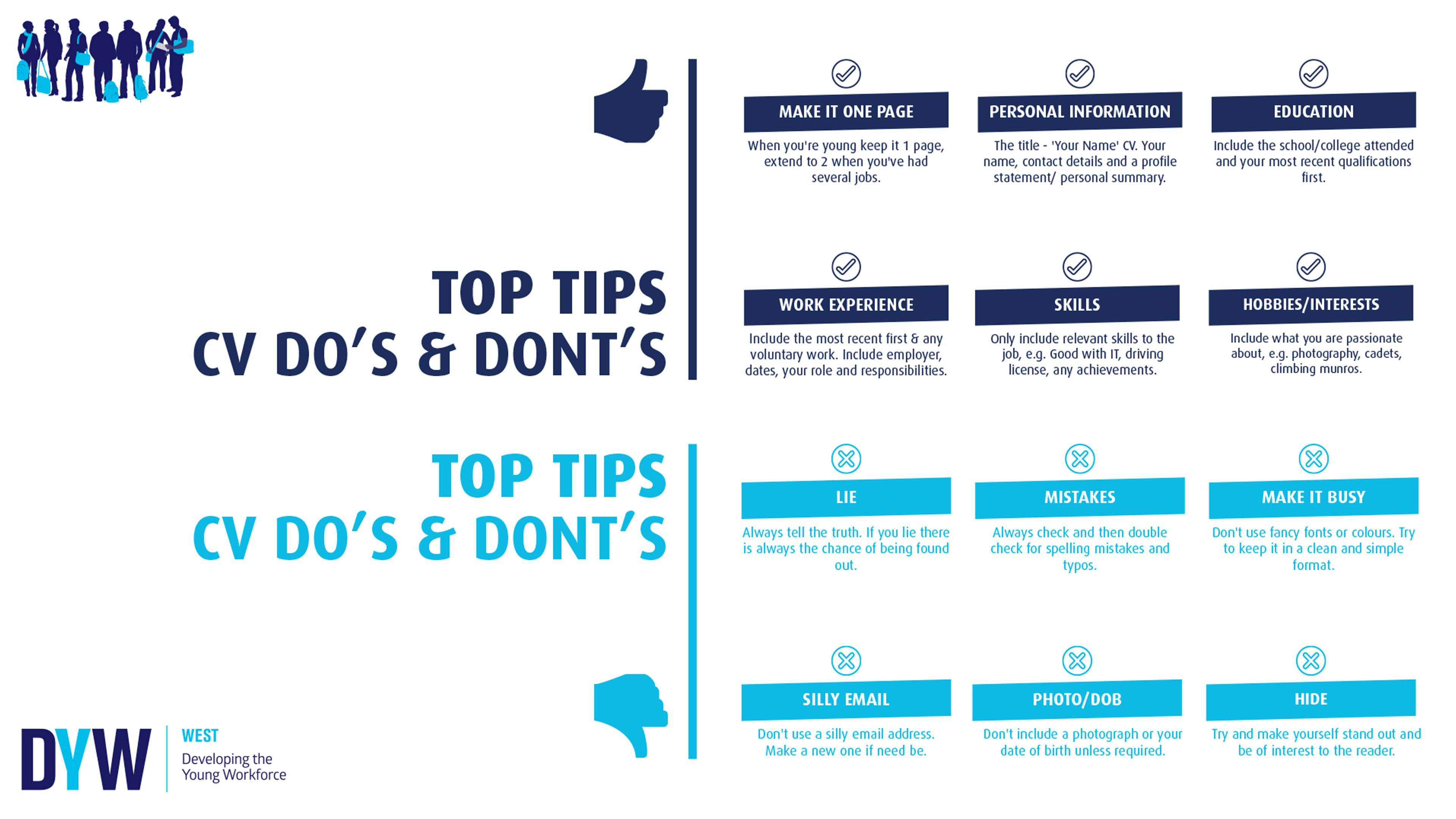 Top Tips: CV Do's & Dont's